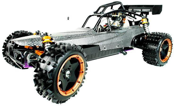 Yama Buggy RC à essence à léchelle 15 24Ghz Version Pro Carbone 30cc