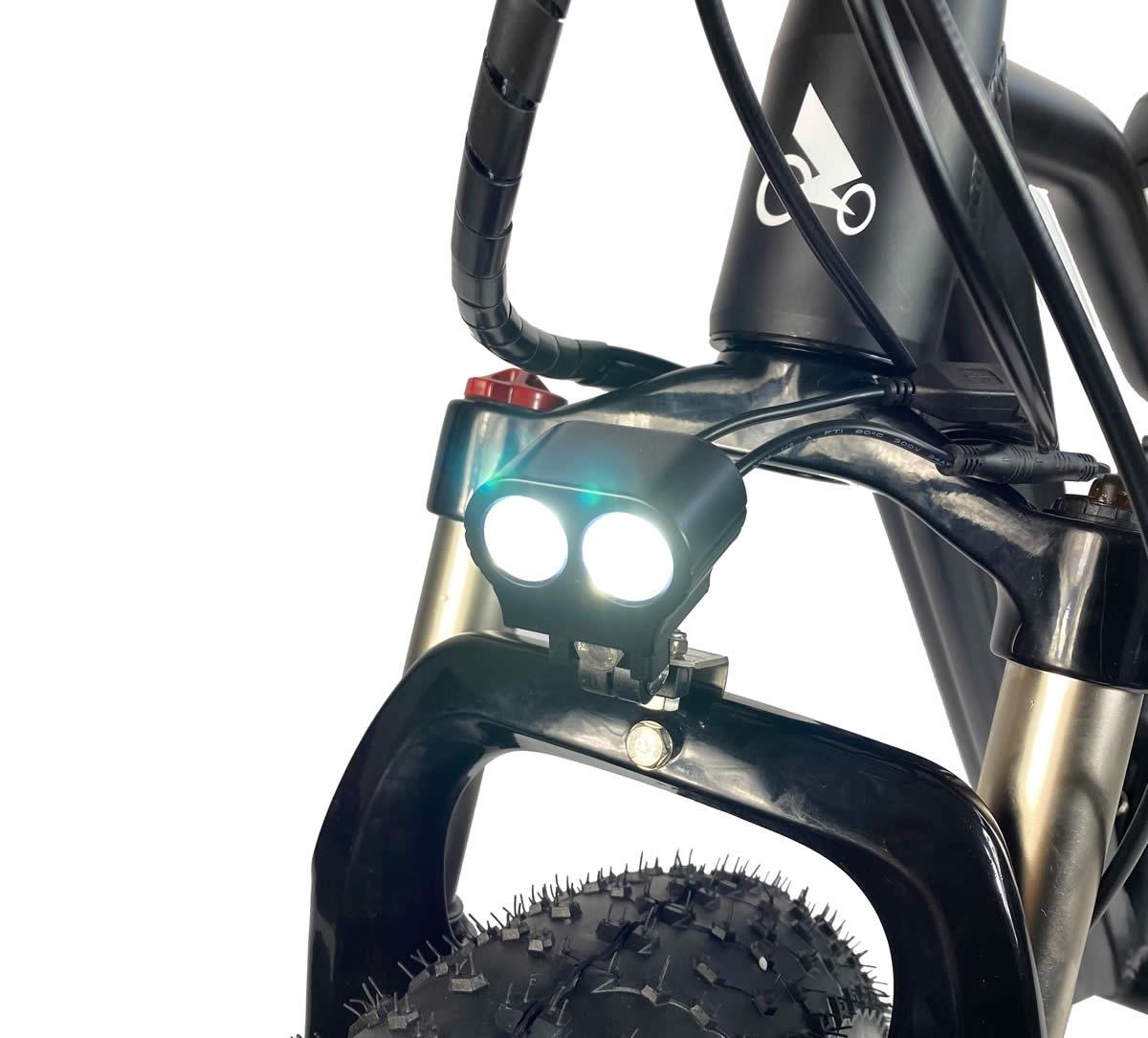 Lumière LED, câblage étanche et suspension de verrouillage